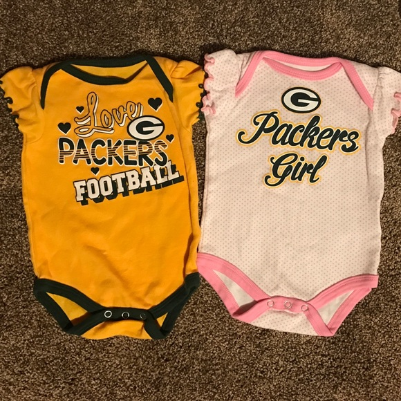 9ffa7035 Baby girl Green Bay packers onsies